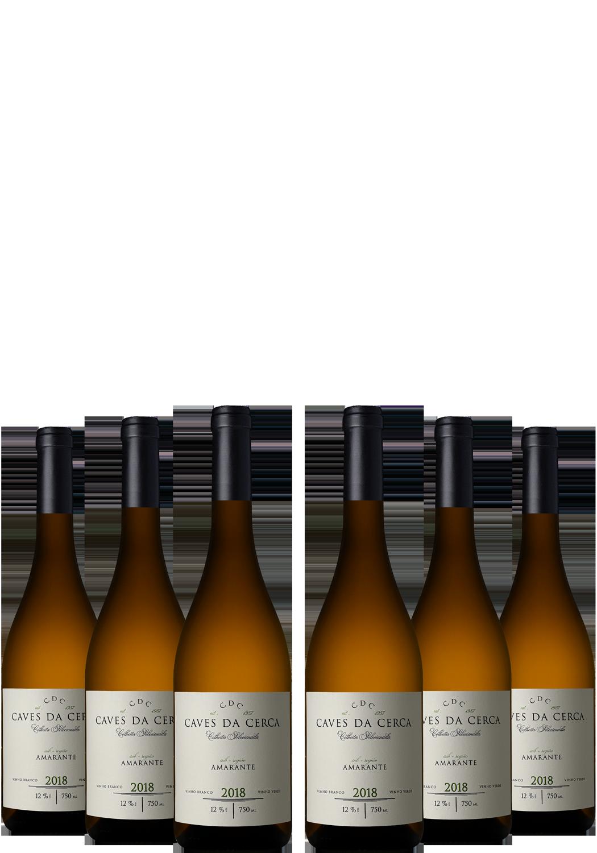 Caixa de 6 Garrafas Caves da Cerca Colheita Seleccionada 2018 Vinho Verde Branco Sub-Região Amarante Produzido por Caves da Cerca em Amarante